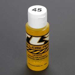 TEAM LOSI TLR74012 SILICONE SHOCK OIL 45 WT, 2 OZ