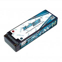 Muchmore IMPACT 6000mAh / 7.4V 90C LiPo Battery Flat Hard Case FD2