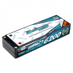 Muchmore IMPACT 6200mAh/7.4V 110C Max-Punch Li-Po Battery Flat Hard Case FD2