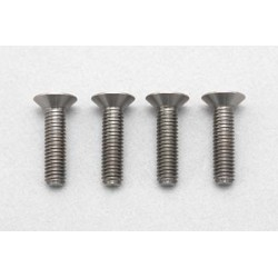 YOKOMO RP-042-12 Racing Performer High precision cutting titanium flat head screw M3×12mm