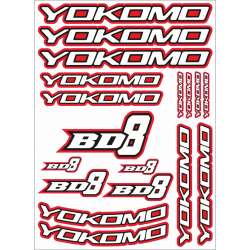 YOKOMO BD8 DECAL RED