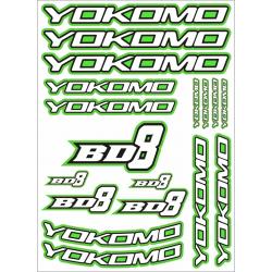 YOKOMO BD8 DECAL GREEN