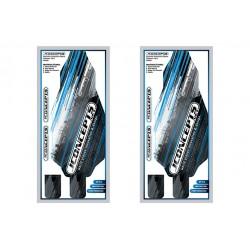 JCONCEPTS J2590 Adhesivo protector chasis precortado, c/gráficos (2pzs)
