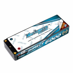 Muchmore IMPACT LCG Max-Punch FD2 Li-Po Battery 6000mAh/7.4V 120C Flat Hard Case
