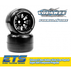 Volante F1 Rear Rubber Slick Tires Asphalt Super Soft Compound Preglued (ETS ASPHALT)