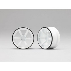 Yokomo Racing Performer High Traction Type Drift Wheel 6mm Offset - White