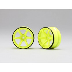 Yokomo Racing Performer High Traction Type Drift Wheel 6mm Offset - Yellow