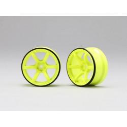Yokomo Racing Performer High Traction Type Drift Wheel 6mm Offset - Yellow