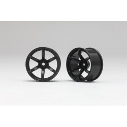 Yokomo Racing Performer Drift Wheel 6 spoke 02 (6mm Offset·Black·2pcs)