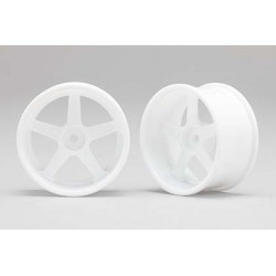 Racing Performer Drift Wheel 5 spoke 01 (6mm Offset·White·2pcs)