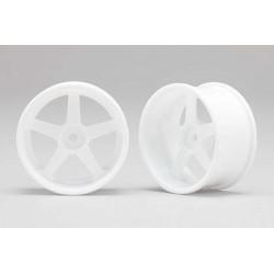 Racing Performer Drift Wheel 5 spoke 01 (6mm Offset·White·2pcs)