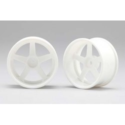 Racing Performer Drift Wheel 5 spoke 01 (8mm Offset·White·2pcs)