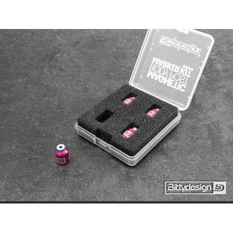 Bittydesign Magnetic Body Post Marker Kit - PURPLE