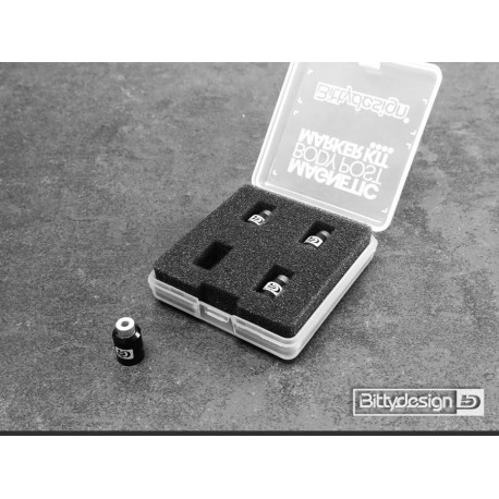 BITTYDESING Magnetic Body Post Marker Kit BLACK