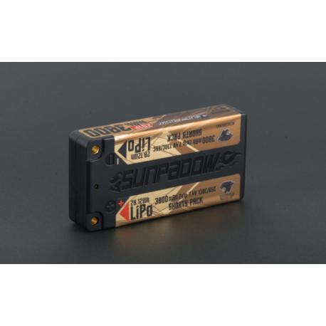Sunpadow 7.4V 2S 3800mAh 130C/65C Shorty LiPo Battery