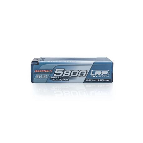 LRP P5-HV Shorty Stock Spec GRAPHENE-2 5800mAh Hardcase battery - 7.6V LiPo - 120C/60C