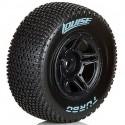 "L-T3147SBTF   Louise 2.2/3.0"" Turbo Tyres on Black Rims - Glued Wheels 2Pcs"