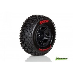 "L-T3148SBTF | Louise 2.2/3.0"" Pioneer Tyres on Black Rims - Glued Wheels 2Pcs"