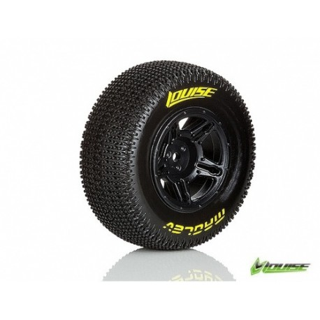 LT3145SBTF Louise SC - Maglev SC Tyre With Black Rim For Traxxas Slash Front (Mounted) - Soft - (2)