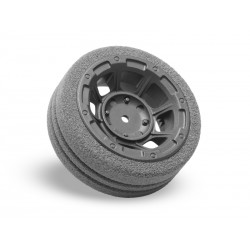 jconcepts 2450 HAZARD RADIO WHEEL | DIRT-TECH FOAM GRIP - M12
