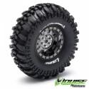 "Louise CR-CHAMP Crawler Tires on 1.9"" Black-Chrome Wheels"