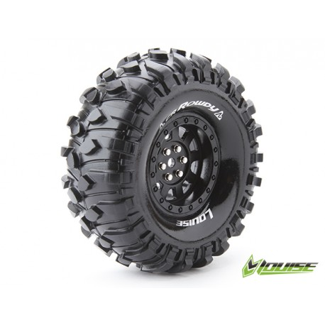 "Louise CR-ROWDY Crawler Tires on 1.9"" Black Wheels"