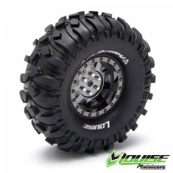 "Louise CR-ROWDY Crawler Tires on 1.9"" Black-Chrome Wheels"