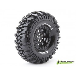 "Louise CR-CHAMP Crawler Tires on 1.9"" Black Wheels"