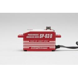 Yokomo SP-03DP Low Profile Brushless Servo - Rojo