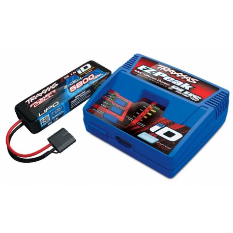 Traxxas Cargador EZ-Peak Plus 4A and 2S 5800mAh Battery Combo