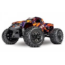 Traxxas HOSS 4x4 VXL Monster Truck - NARANJA/ MORADO