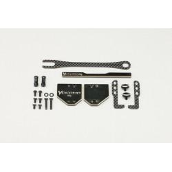 Yokomo BD10 LCG Short LiPo enabled Graphite Battery Holder Set