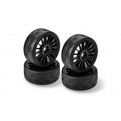 HUDY 1/10 Slick Tires for FWD