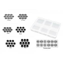 MR33 Aluminum 3mm Shim Set 0.5,0.75,1,2,3,5mm Each 10pcs. (60) Black