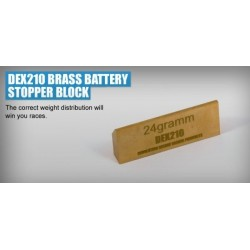 REVOLUTION DESIGN DEX210 BRASS BATTERY STOPPER BLOCK RDRP0044