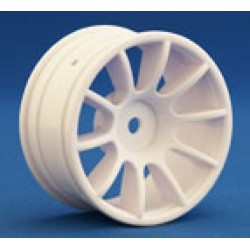 RI-25006 RIDE 1/10 M-Chassis 47, 10 Spoke Wheels White