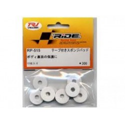 RI-RP-515 RIDE Body Protect Sponge Pad with Adhesive Tape, White