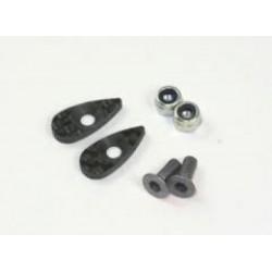 ROC-OP-005 Roche Carbon Rear Wing Support Set, Screw Color: Titanium