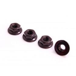 SPEC-R SPR025-NUBK 4mm Alu Lock Nut (4 pcs Black)