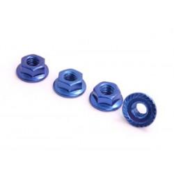 SPEC-R SPR025-NUBL 4mm Alu Lock Nut (4 pcs Blue)