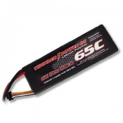 THUNDER POWER TPM-TP5300-4SPR65D 5300mAh 4S 14.8V G6 Pro Race 65C LiPo w/Case,Deans