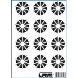 LRP 65075 Adhesivos llantas 1/10 10 radios