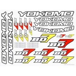 YOKOMO ZC-BD7-1 BD7 Decal