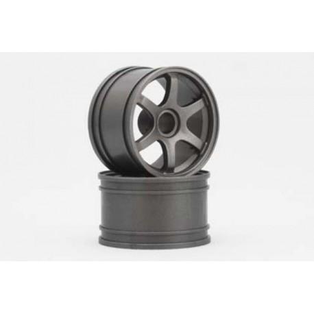 YOKOMO GT-29RG RAYS Front Wheel for GT series (Gun metal 2pcs)