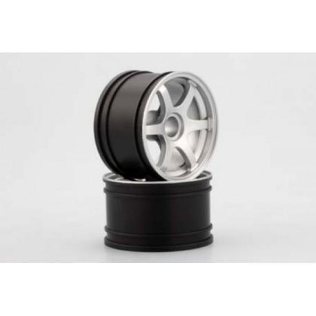 YOKOMO GT-29RS RAYS Front Wheel for GT500 (Silver 2pcs)
