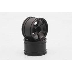YOKOMO GT-30R RAYS Rear Wheel for GT500 (Black 2pcs)