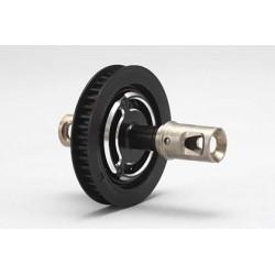 B7-501S Aluminum Solid Axle (Black)