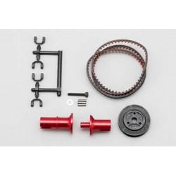 YOKOMO IB- FCD15R Full counter solid axle set (Rear×1.5/Red)