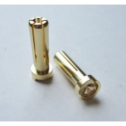 TQ RACING 5mm x 19mm CONECTOR ORO HD LOW PROFILE 2uds