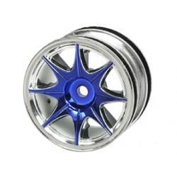 3 RACING WH- 04/BU 1/10  8  SPOKE WHEEL SET Tamiya M-Chassis (4PCS) BLUE